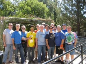 The Sukkah Building Team 2010