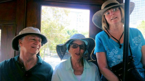 Brian Hatkoff, Cheryl Hatkoff, and Laraine Miller on Angel's Flight